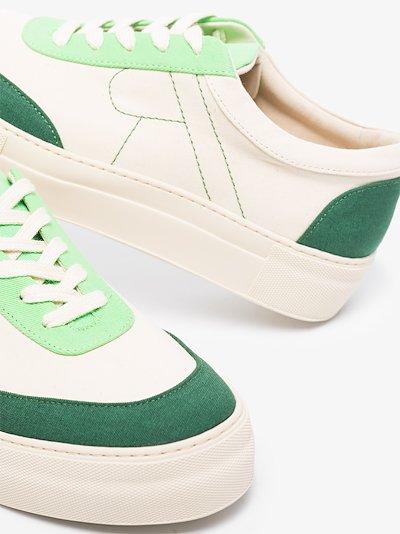 neutral R logo canvas sneakers