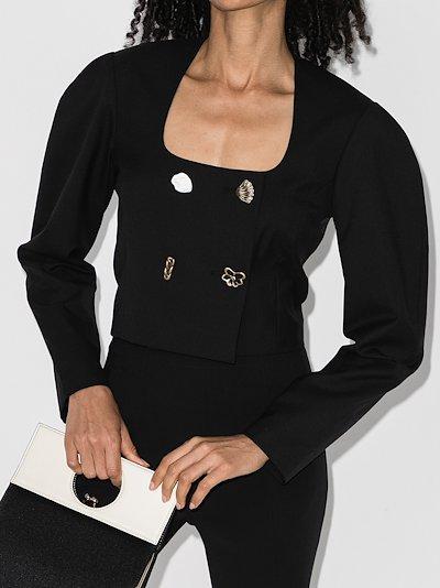 Nina double-breasted cropped jacket