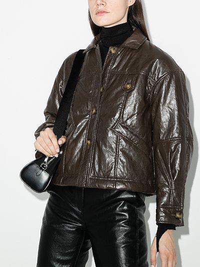 pippa faux leather jacket
