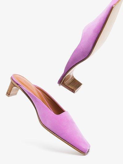 purple Leni 40 suede mules