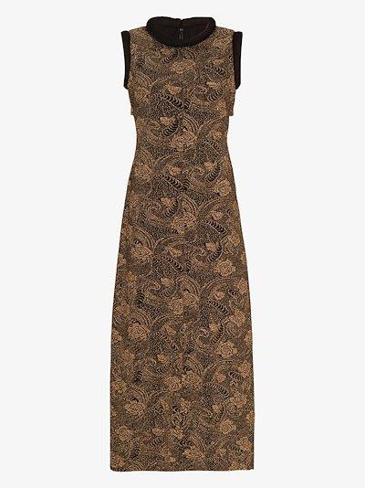 Suki metallic print midi dress