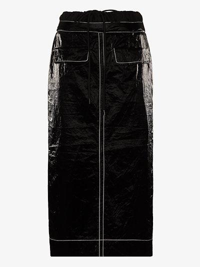 Taylor gathered waist midi skirt