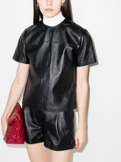 Audrey leather T-shirt