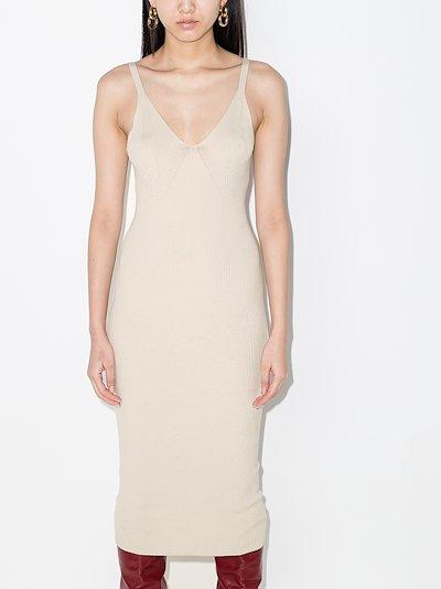 Gunilla Ribbed Knit Midi Dress