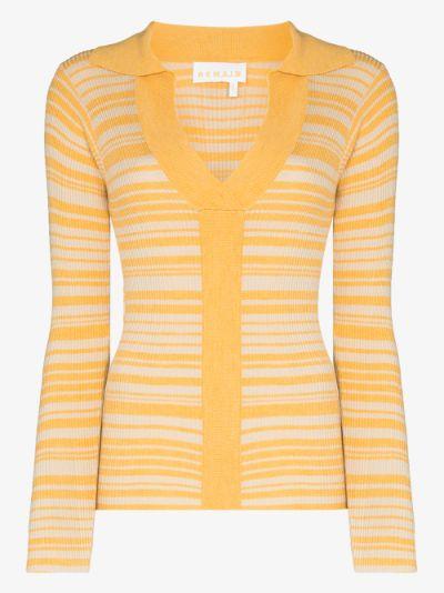Joy striped knit long sleeved top