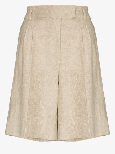 Kit linen Bermuda shorts