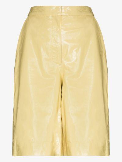 Maisy Leather Bermuda Shorts
