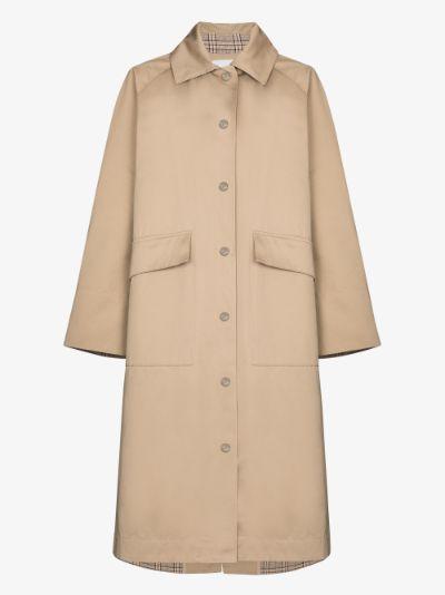 Patula cotton single-breasted coat