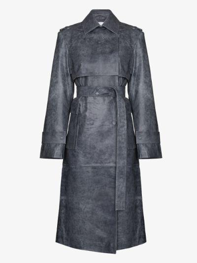 Pirello leather trench coat