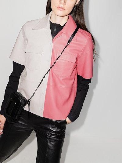 Sienna leather shirt