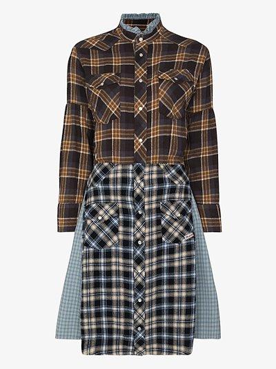 Farmer's patchwork checked dress