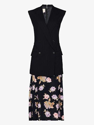 Flared waistcoat dress