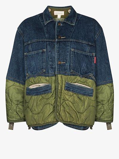 trucker puffer denim jacket