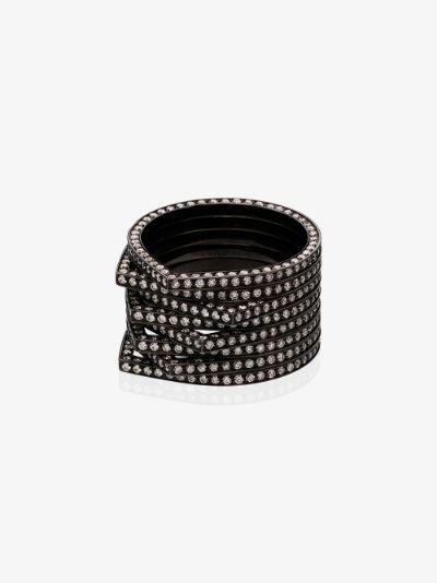 18K black gold Antifer diamond ring