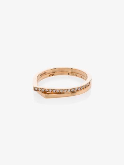 18K rose gold Antifer diamond ring