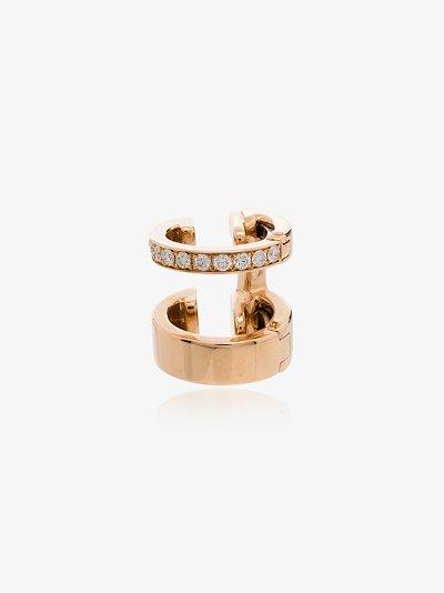 18K rose gold Berbere diamond earring