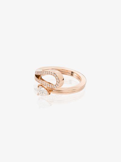 18K rose gold Serti Inversé diamond ring