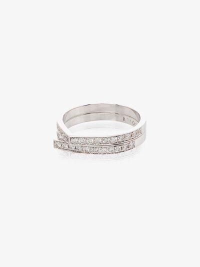 18K White Gold Antifer Diamond Ring