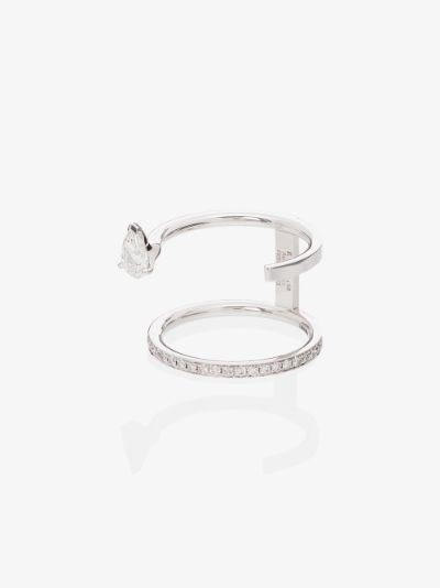 18K white gold Serti Sur Vide diamond ring