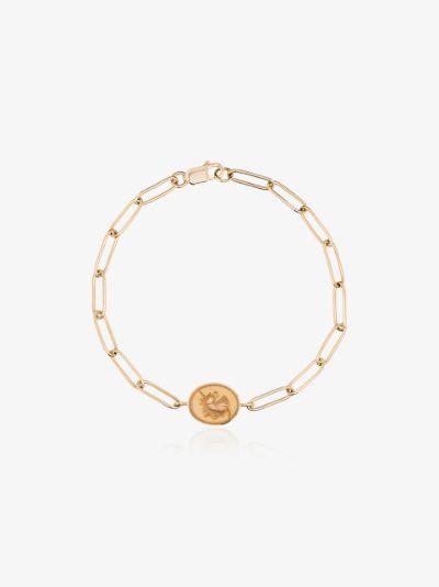 14K yellow gold unicorn signet bracelet
