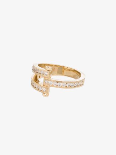 Magna 14kt gold pavé diamond ring