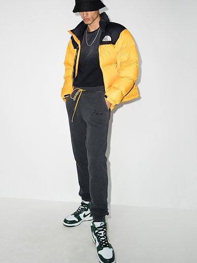 drawstring logo track pants