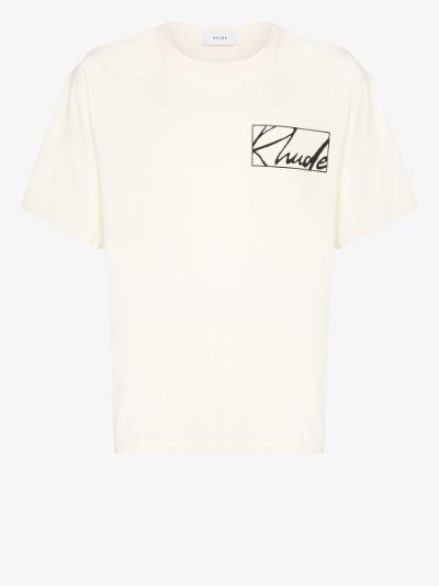 Theorist logo cotton T-shirt