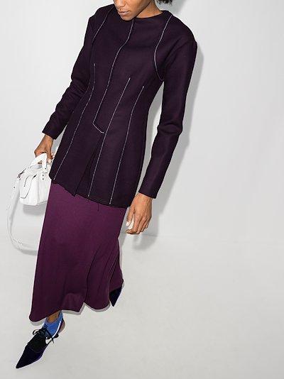 exposed seam wool shirt