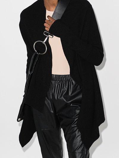 asymmetric cashmere wool cardigan