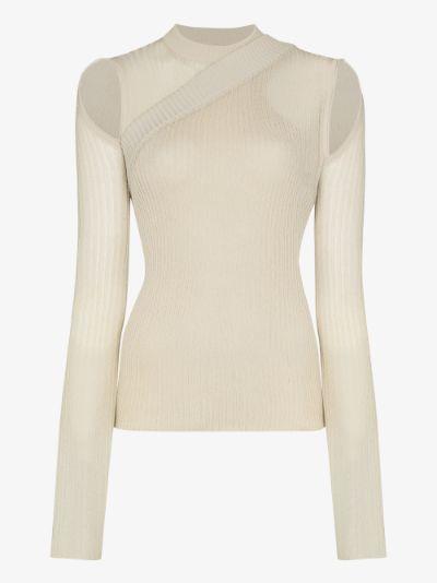 Asymmetric Cutout Sweater