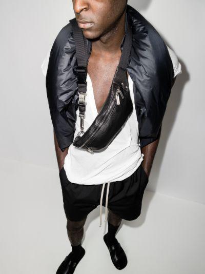Black Bumbag leather cross body bag