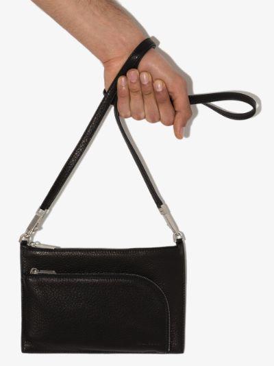 Black Club leather cross body bag