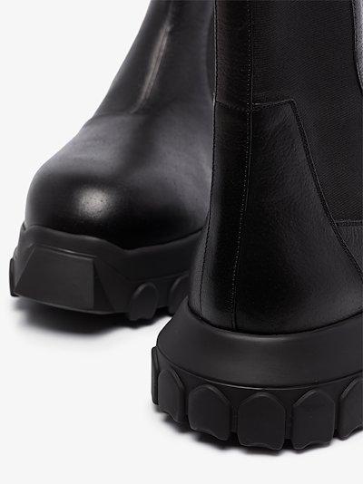 black Mega Bozo Tractor leather boots