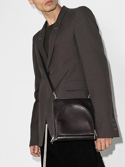black Moon Pocket leather cross body bag