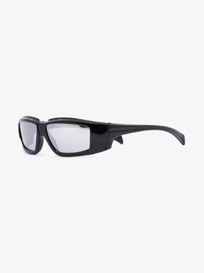 Black rectangular sunglasses