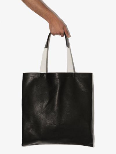 Black Signature leather tote bag