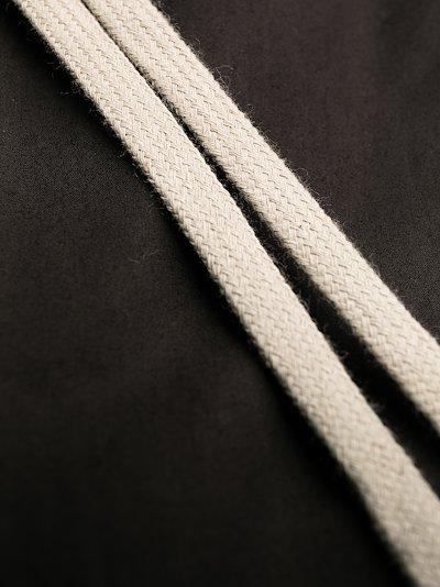 Drawstring cropped poplin trousers