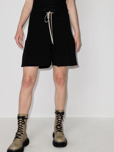 Drawstring Wool Shorts