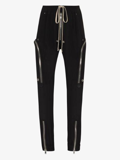 Drawstring zip pocket track pants