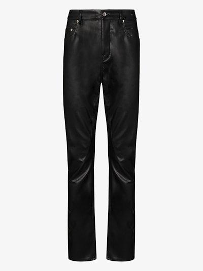 Detroit faux leather trousers