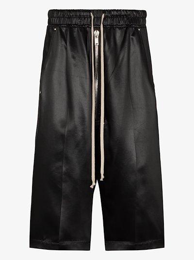 drop crotch track shorts