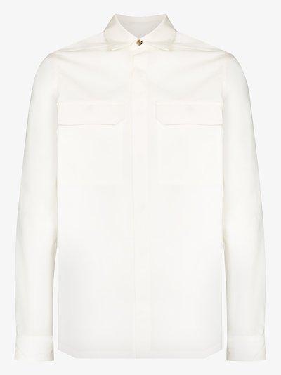 front pocket cotton shirt