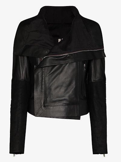 Larry draped leather jacket