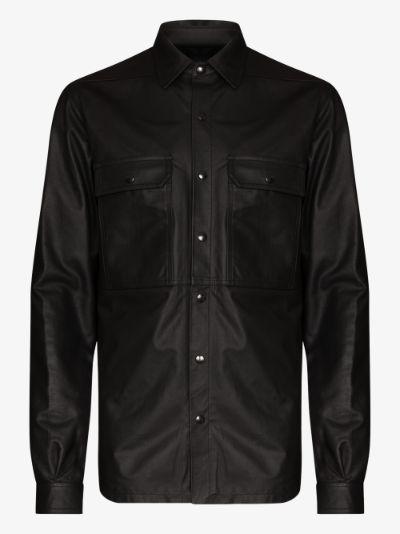 leather shirt jacket