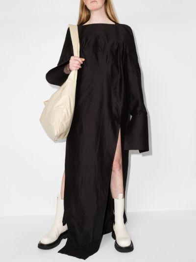 oversized side slit maxi dress