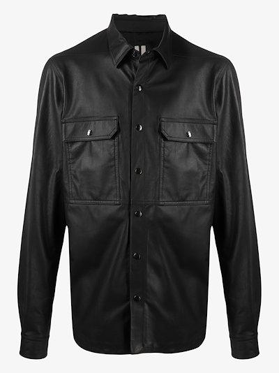 rear strap leather jacket