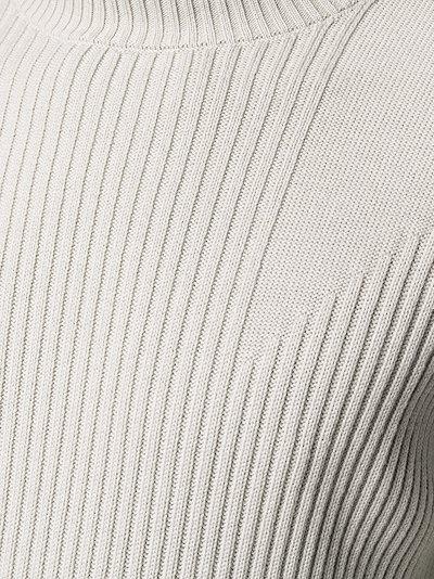 ribbed round-neck jumper