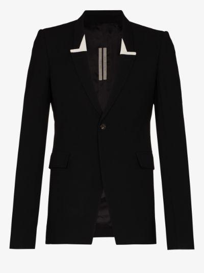 Sharp Single-Breasted Blazer