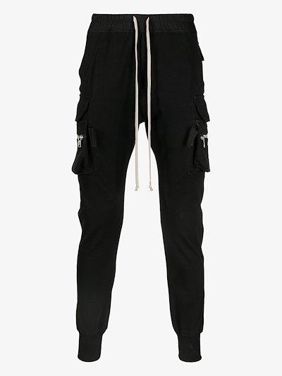 skinny-cut drawstring track pants