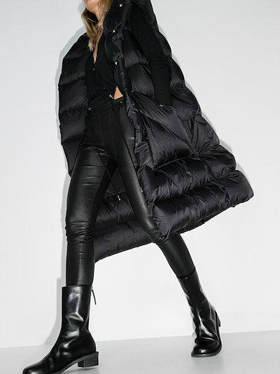 sleeveless puffer coat